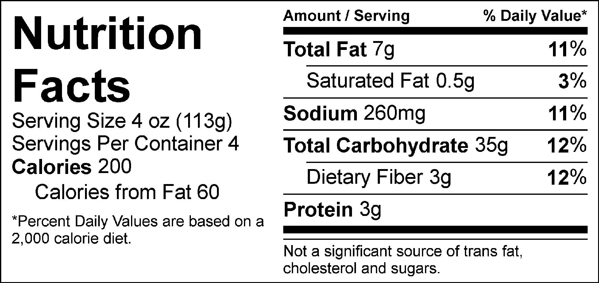 carb load pesto rice nutrition facts