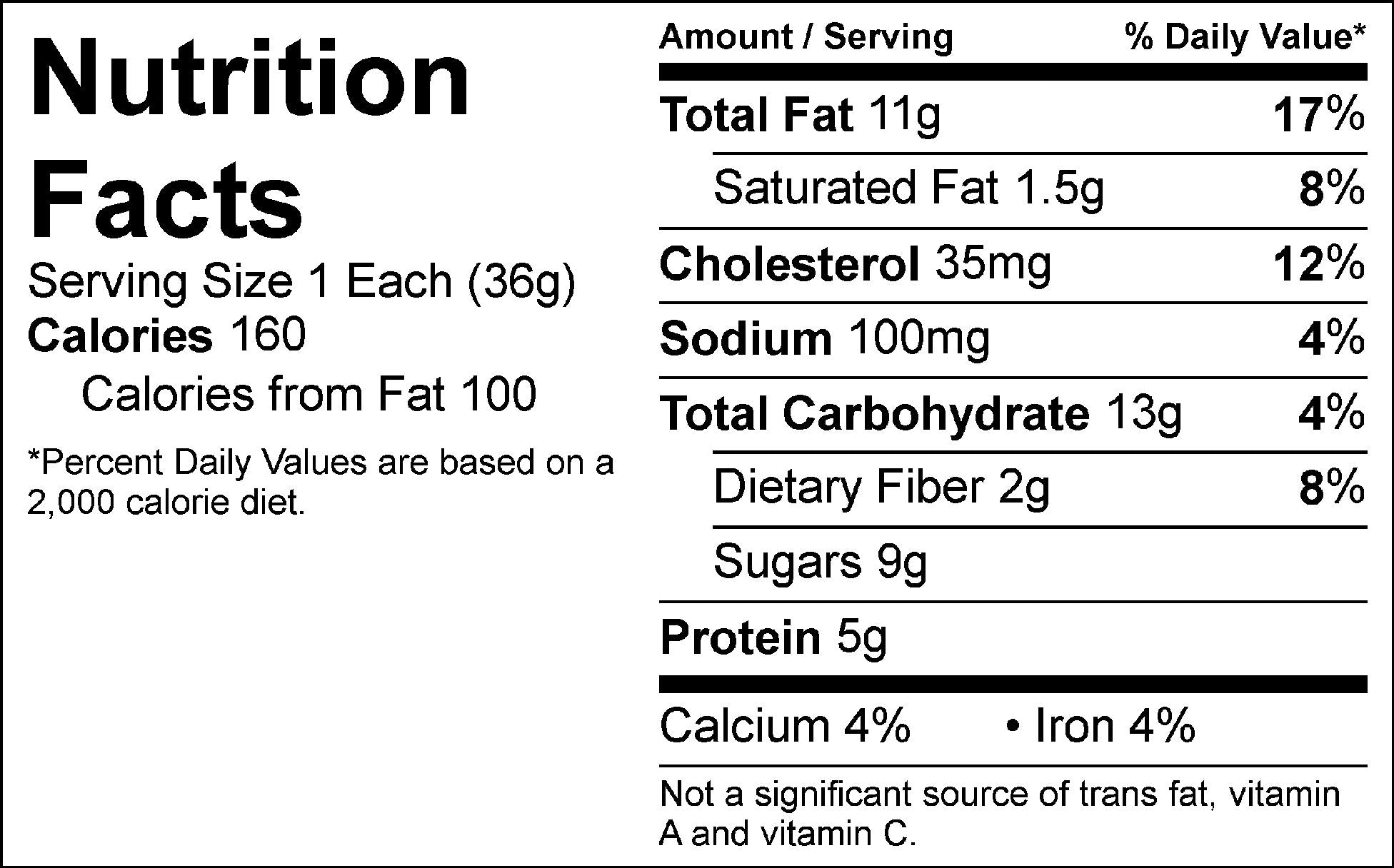 chocolate brownie nutrition facts