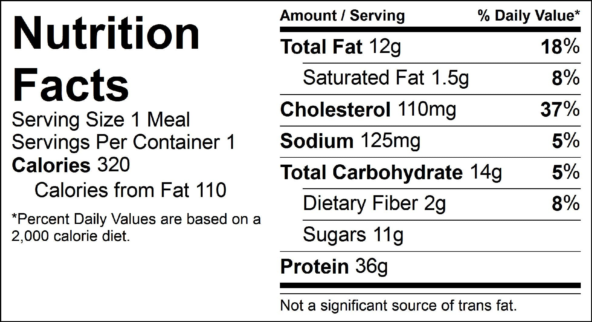 balsamic chicken and zoodles nutrition facts