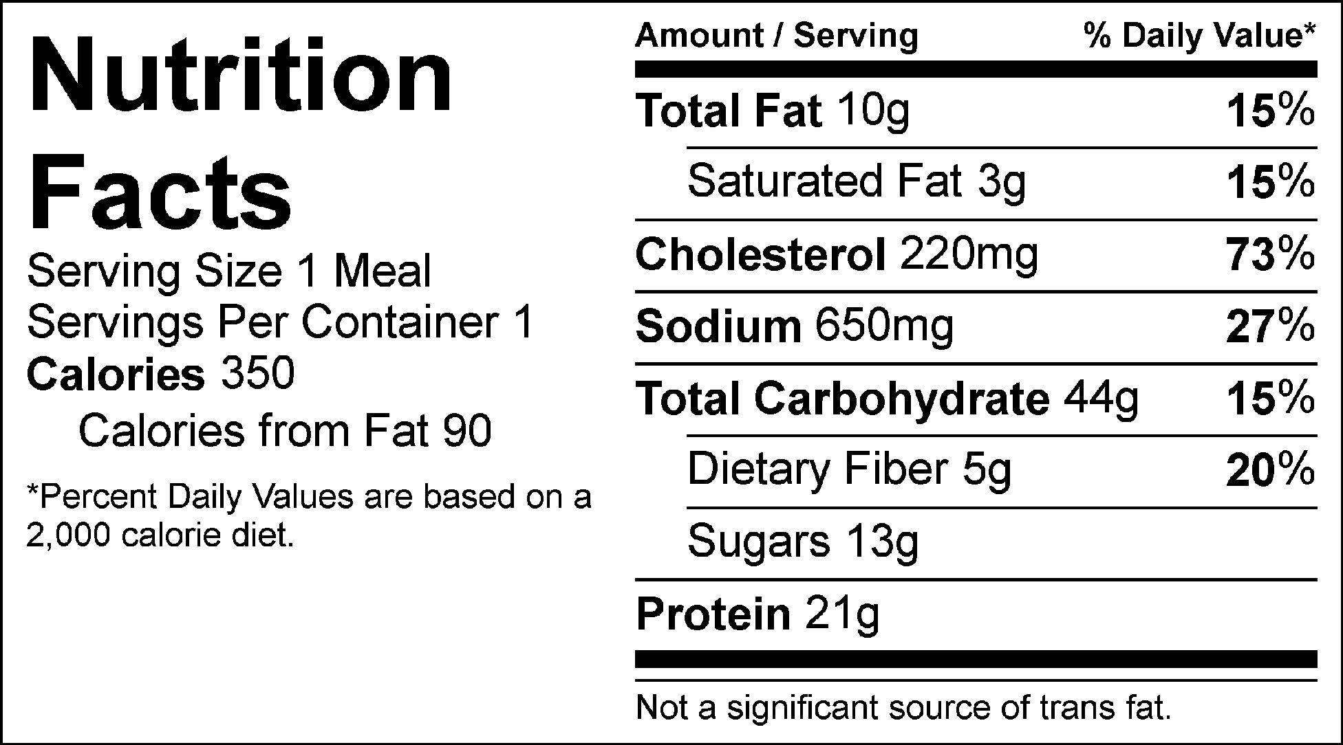 baked oatmeal and scrambled eggs nutrition facts