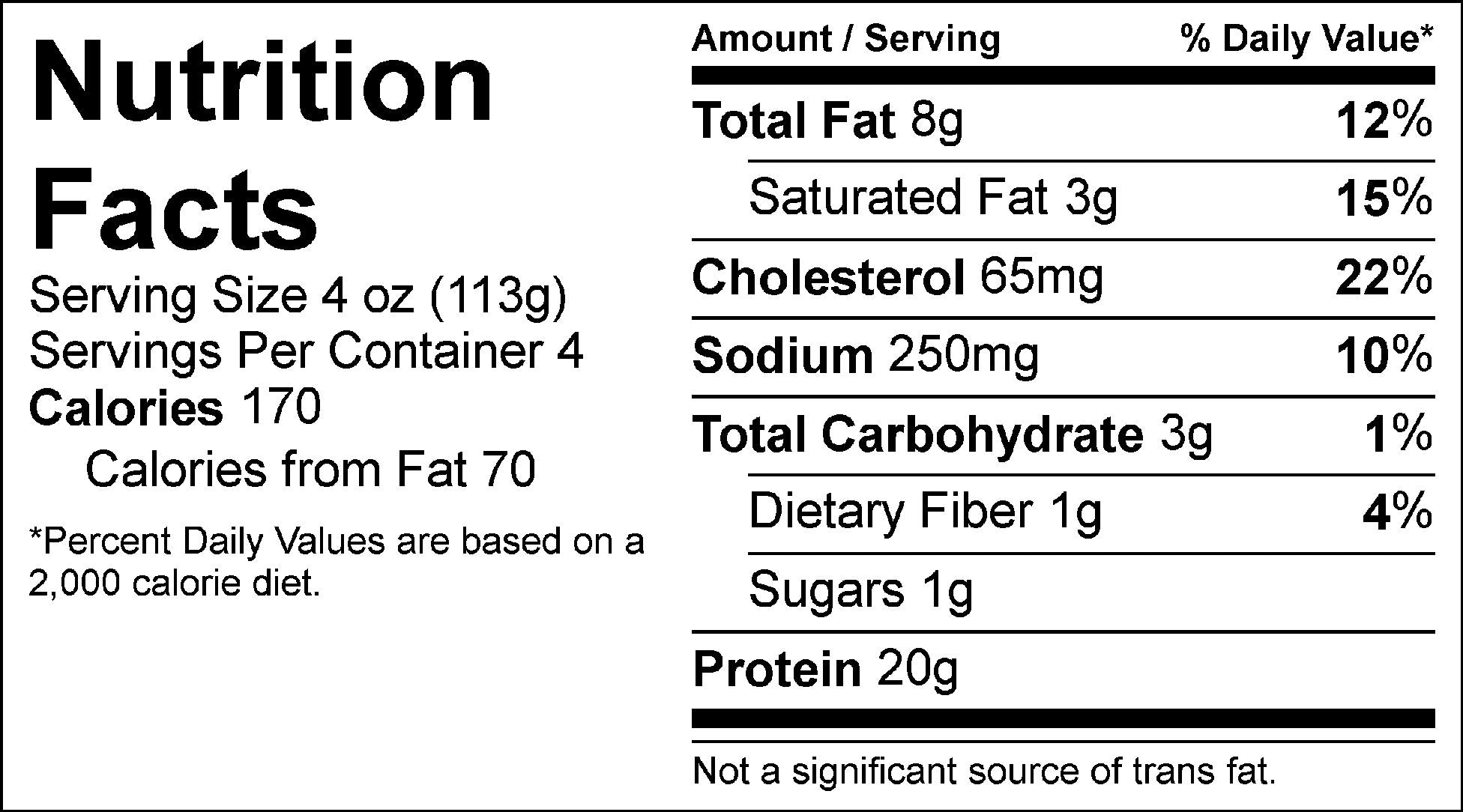 pure protein marinara beef nutrition facts