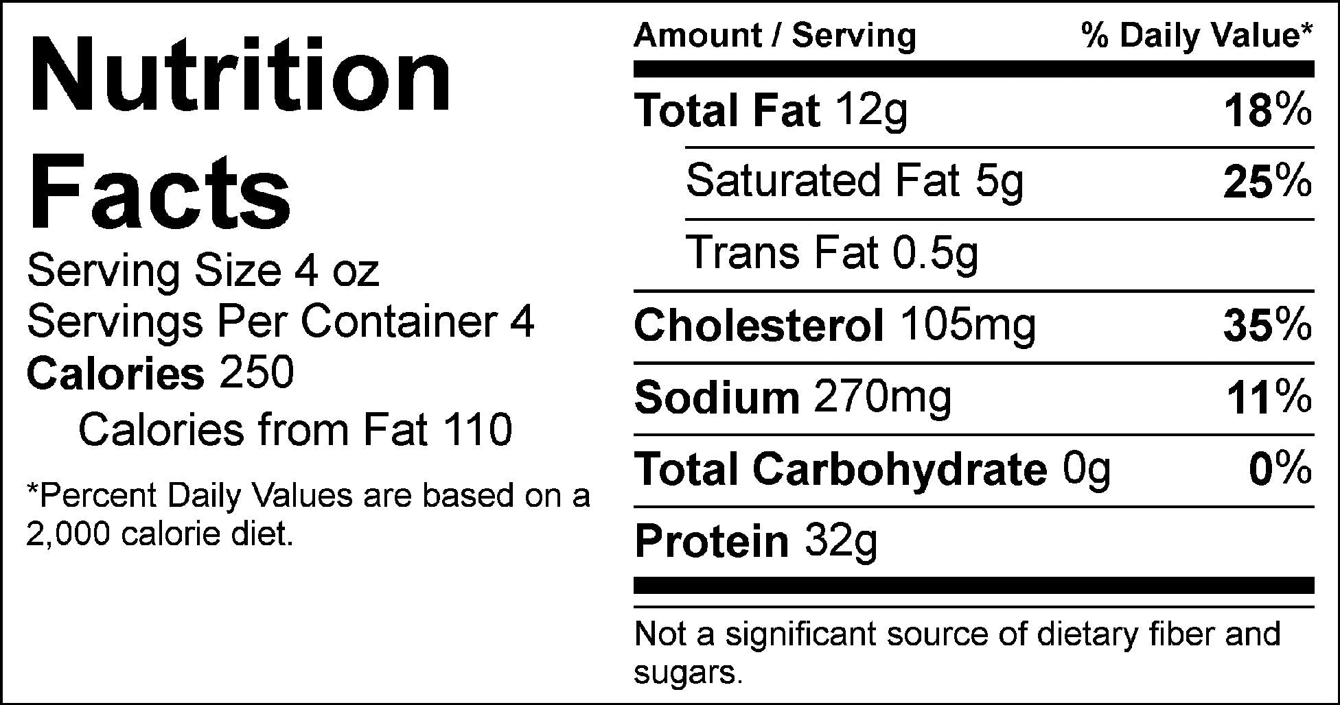 pure protein ground beef nutrition facts