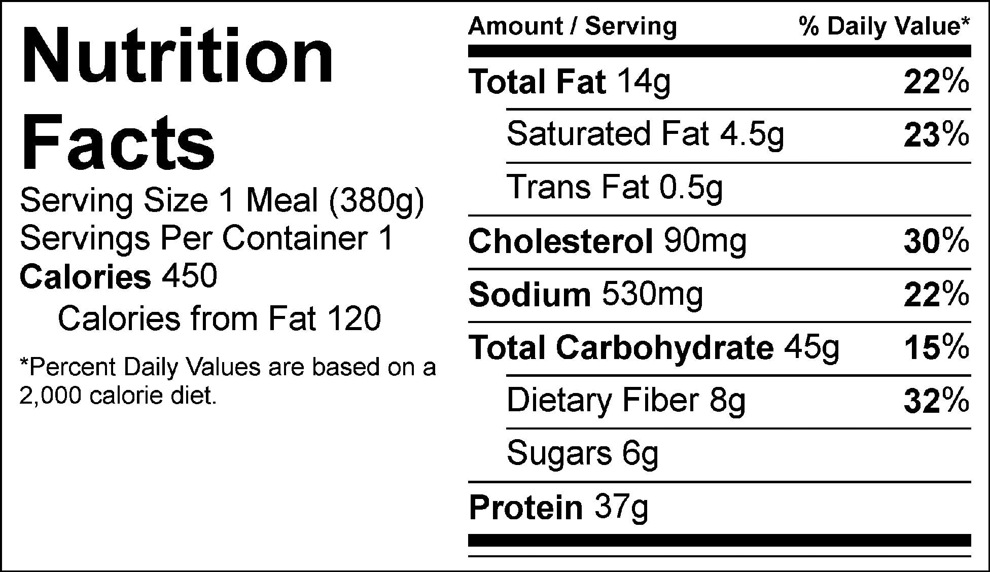 spaghetti and meat sauce nutrition facts