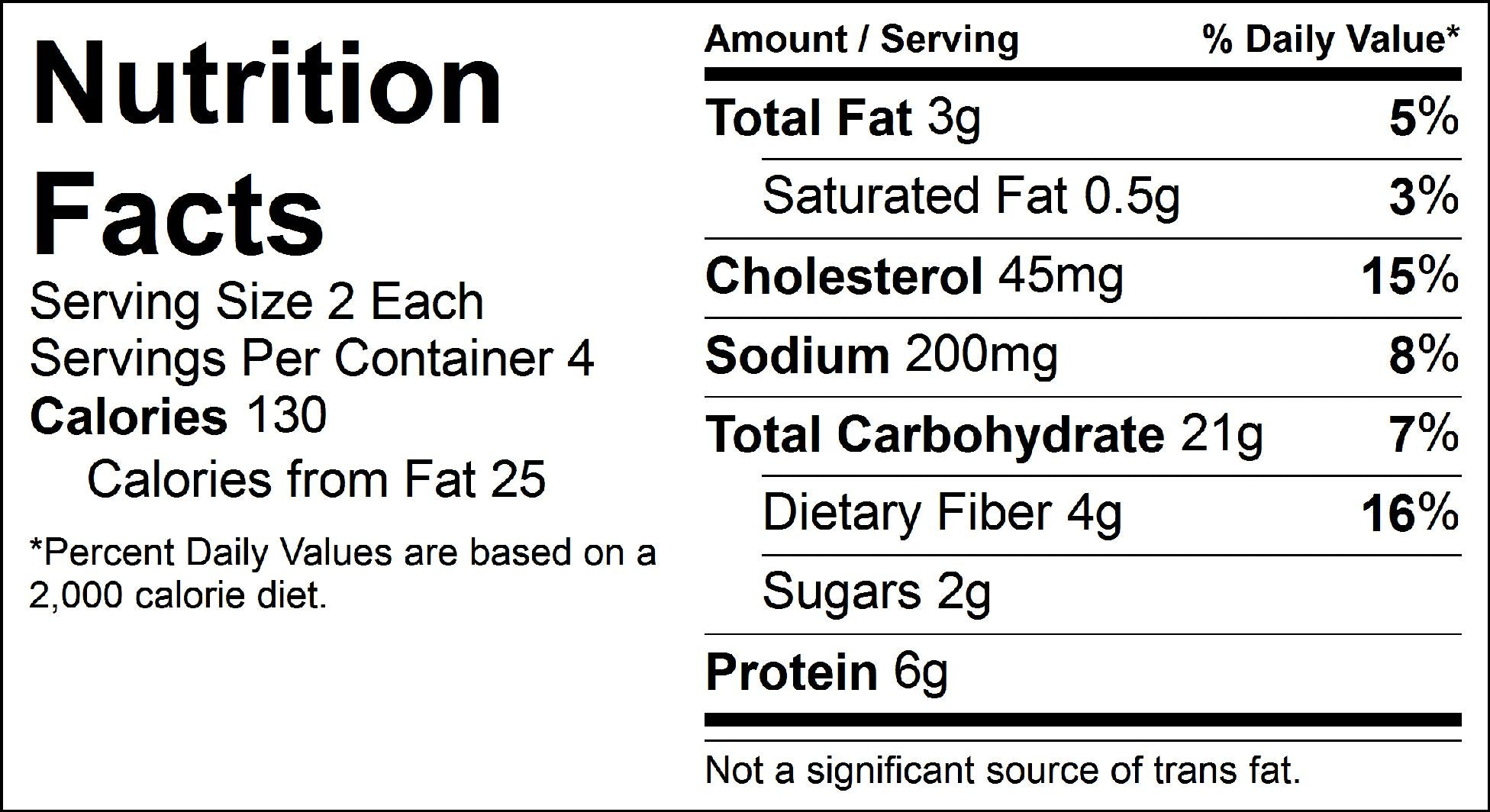 pure protein falafel nutrition facts