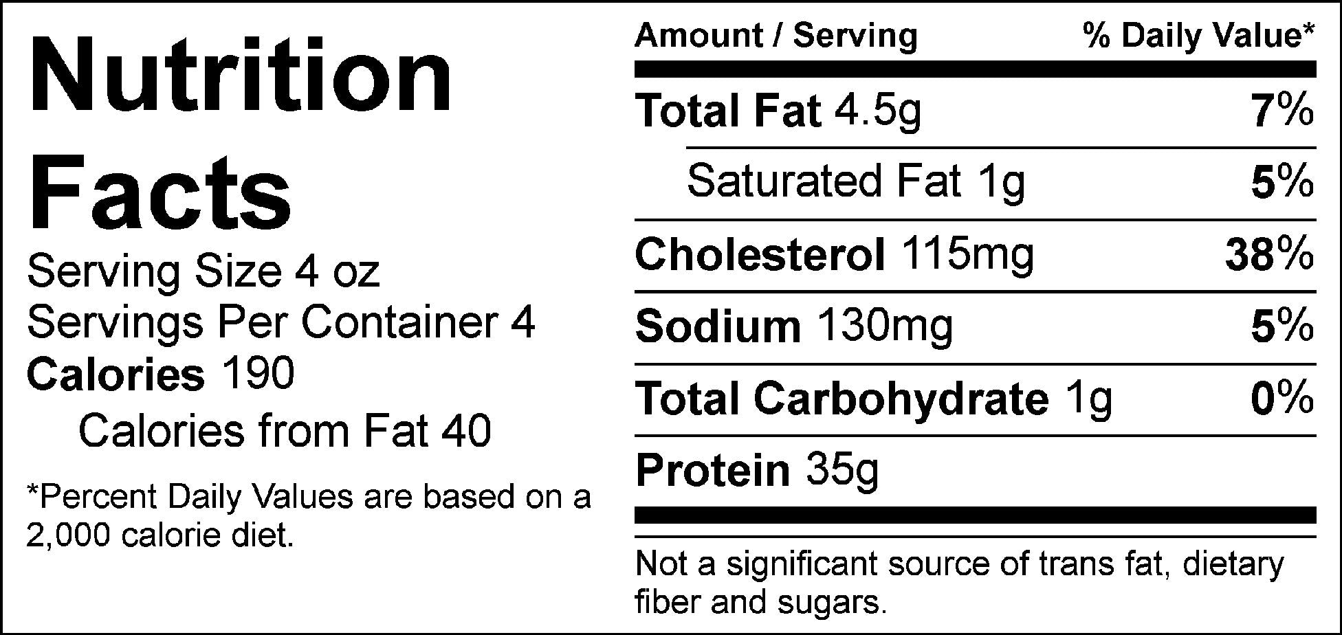 pure protein essence chicken nutrition facts