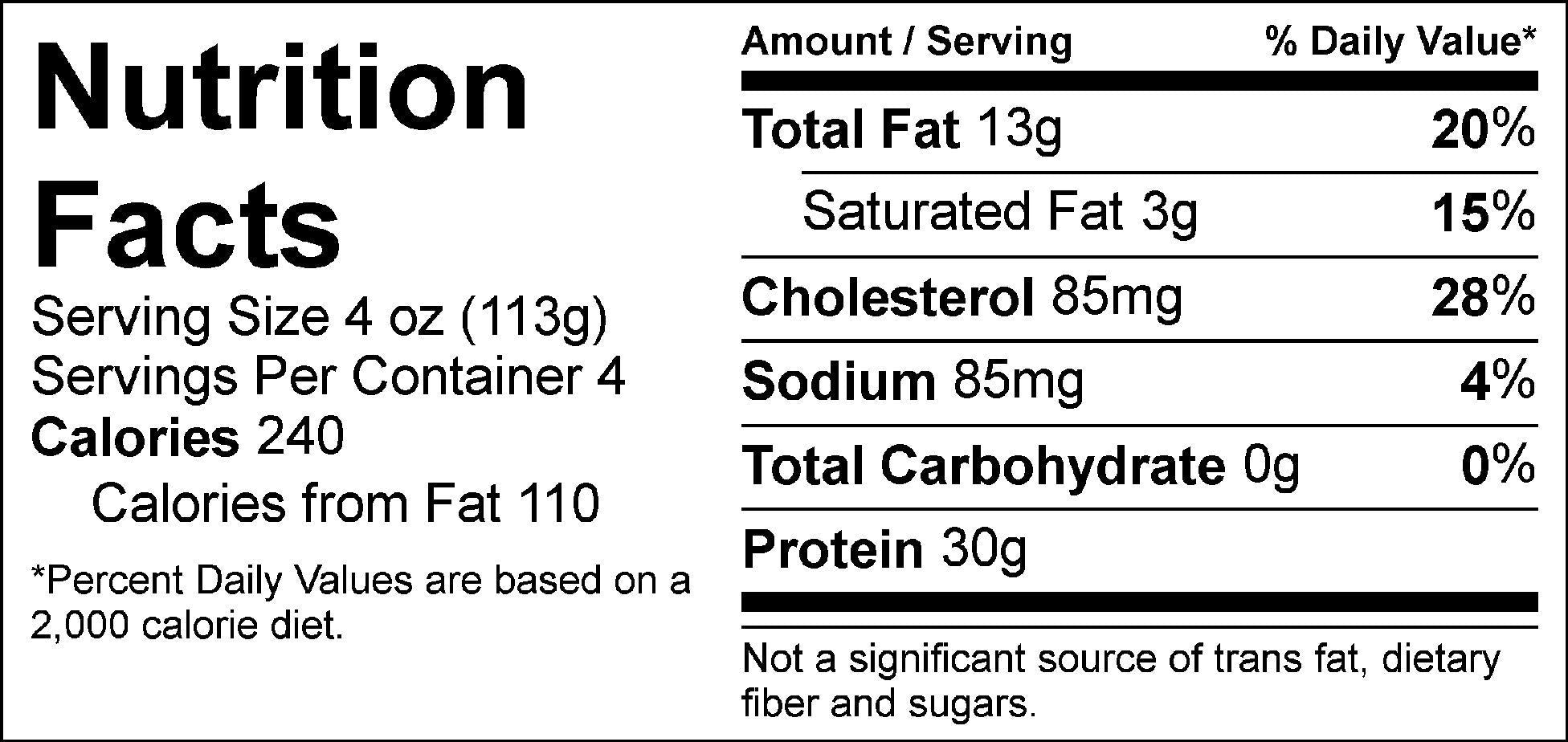 pure protein shredded beef nutrition facts