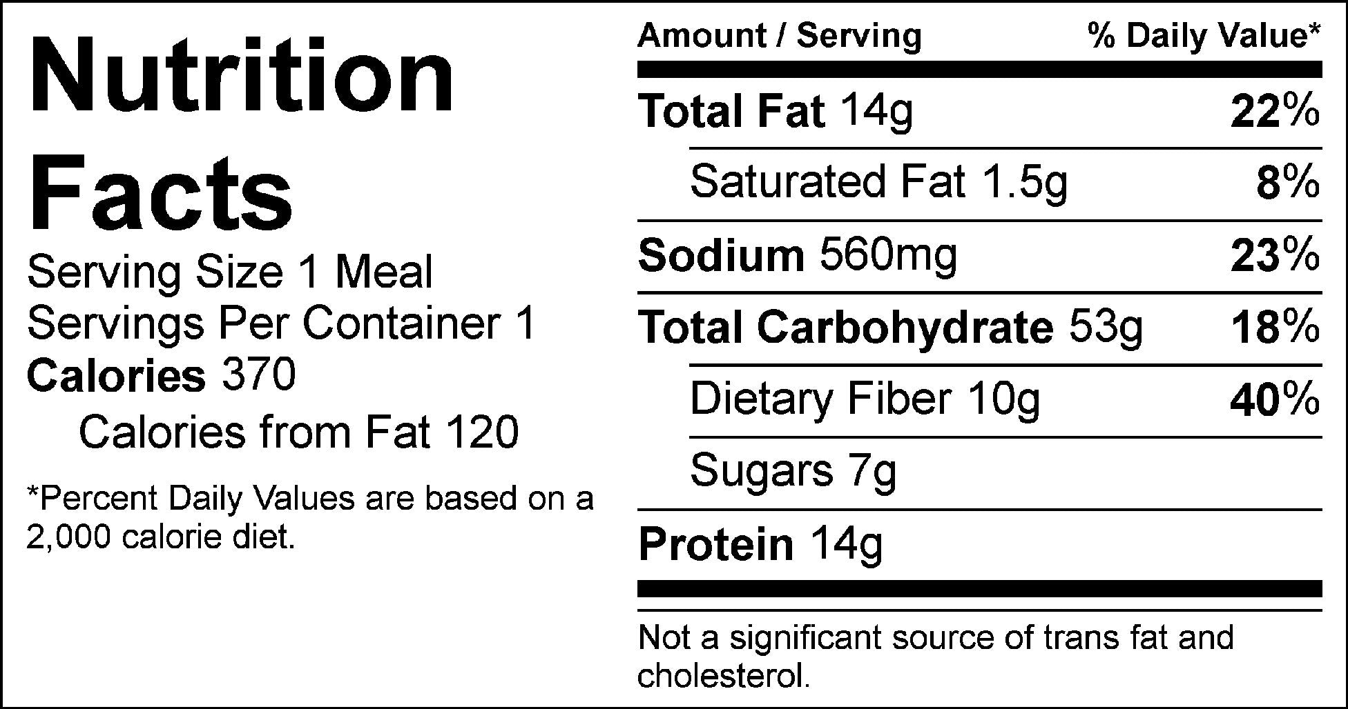 italian veggie meatballs nutrition facts