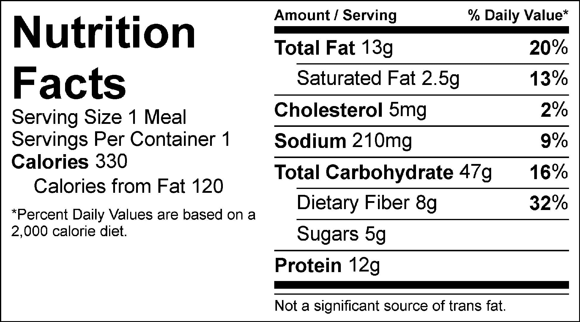 italian veggie pasta nutrition facts