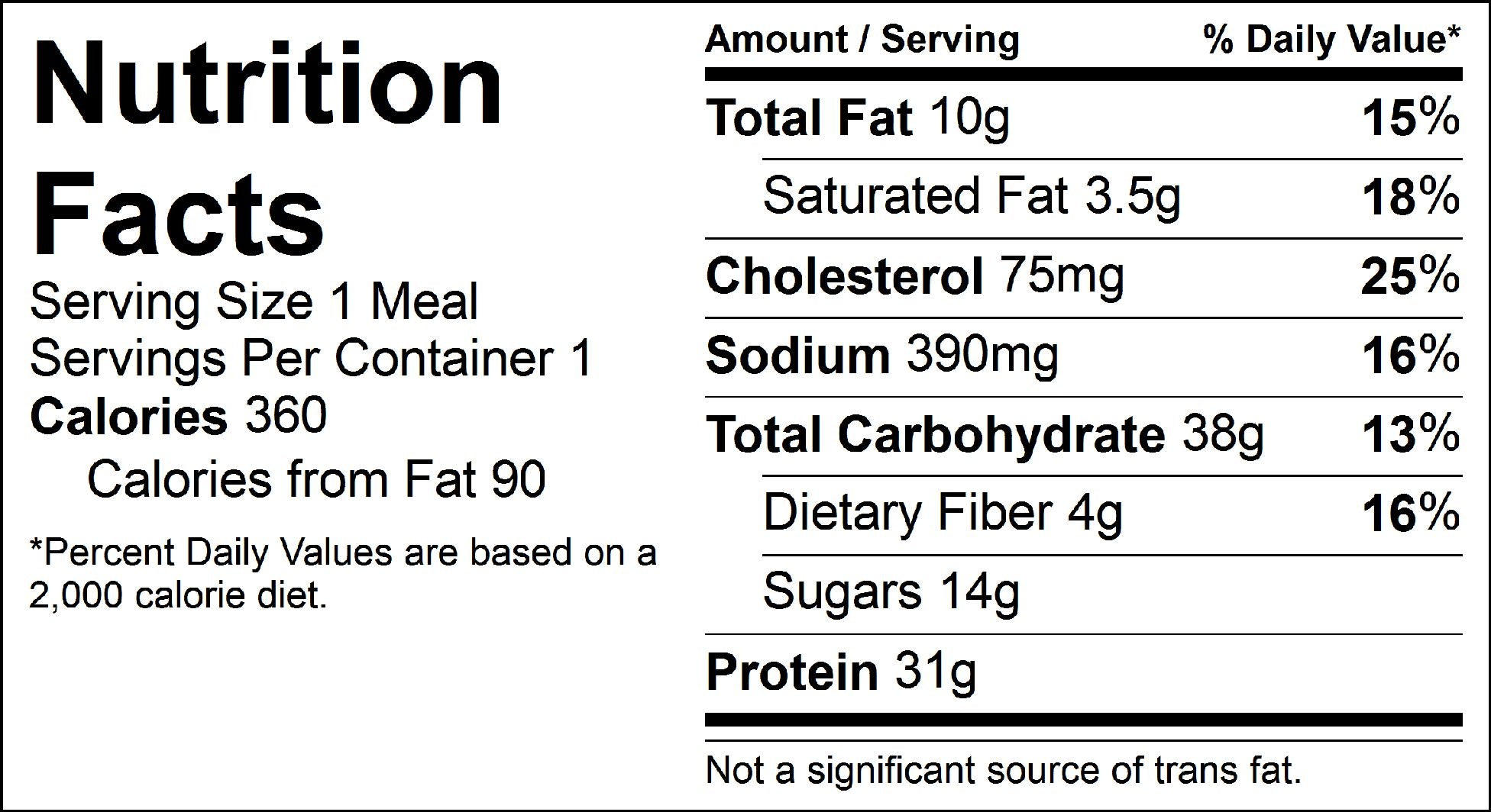 bbq beef nutrition facts