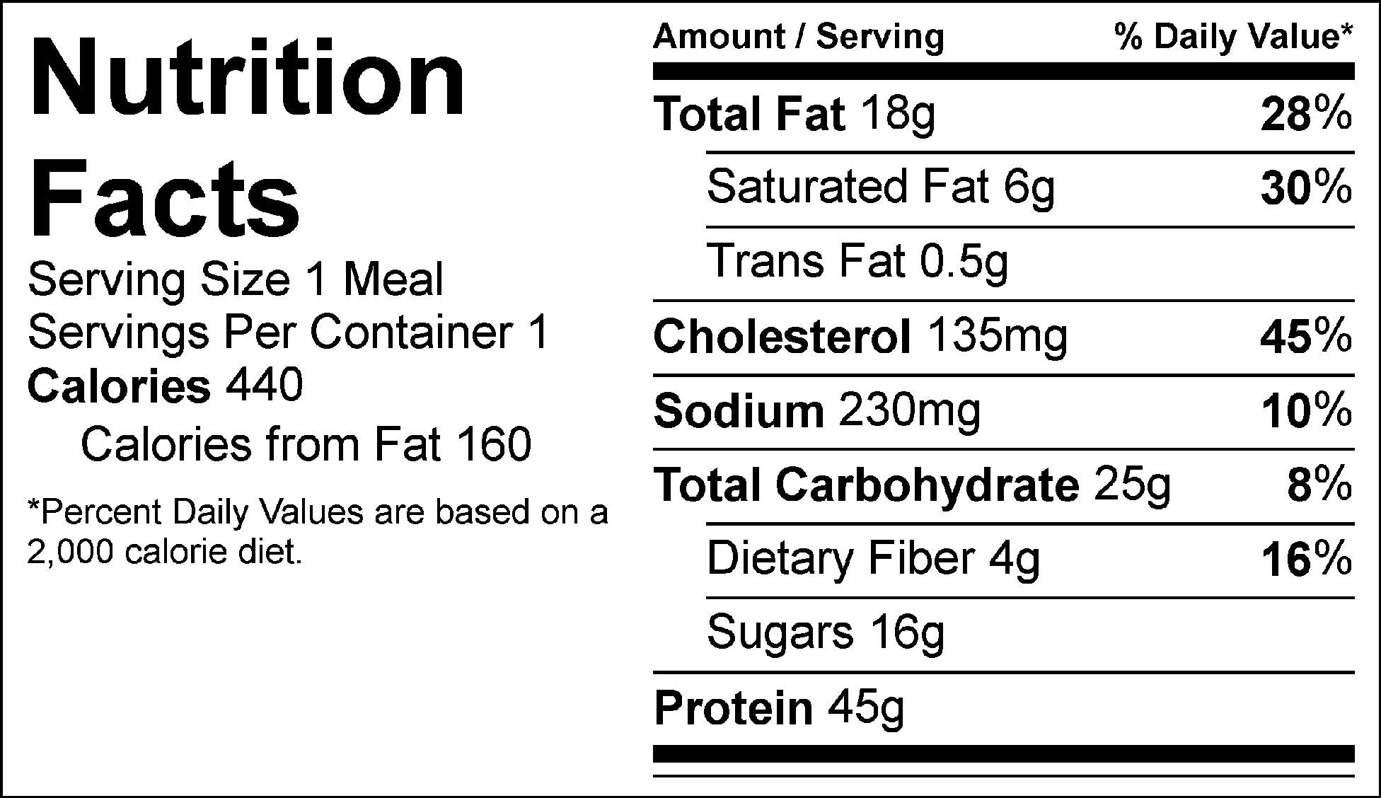 hawaiian bbq meatballs nutrition facts