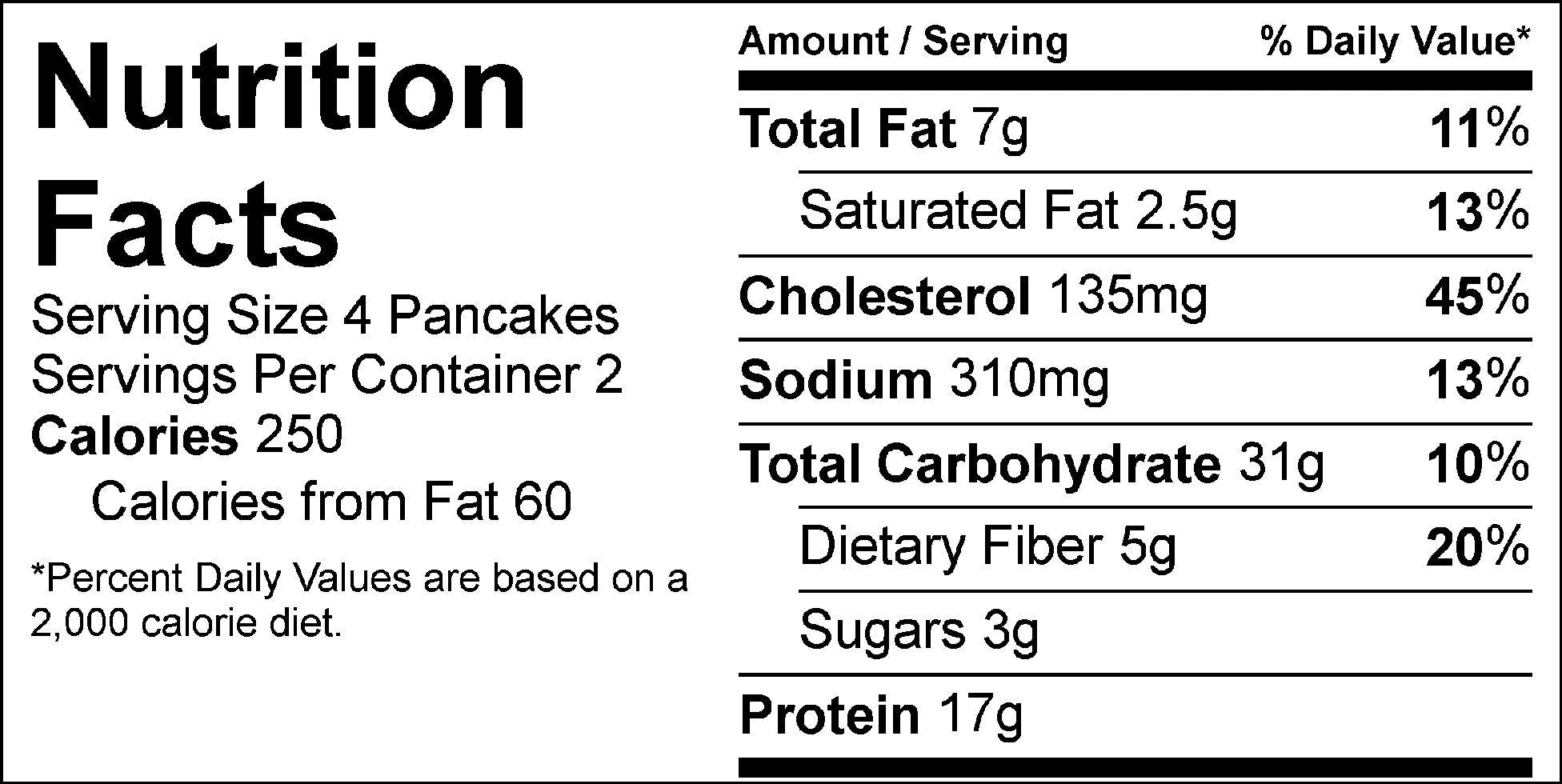 apple cinnamon protein pancakes nutrition facts