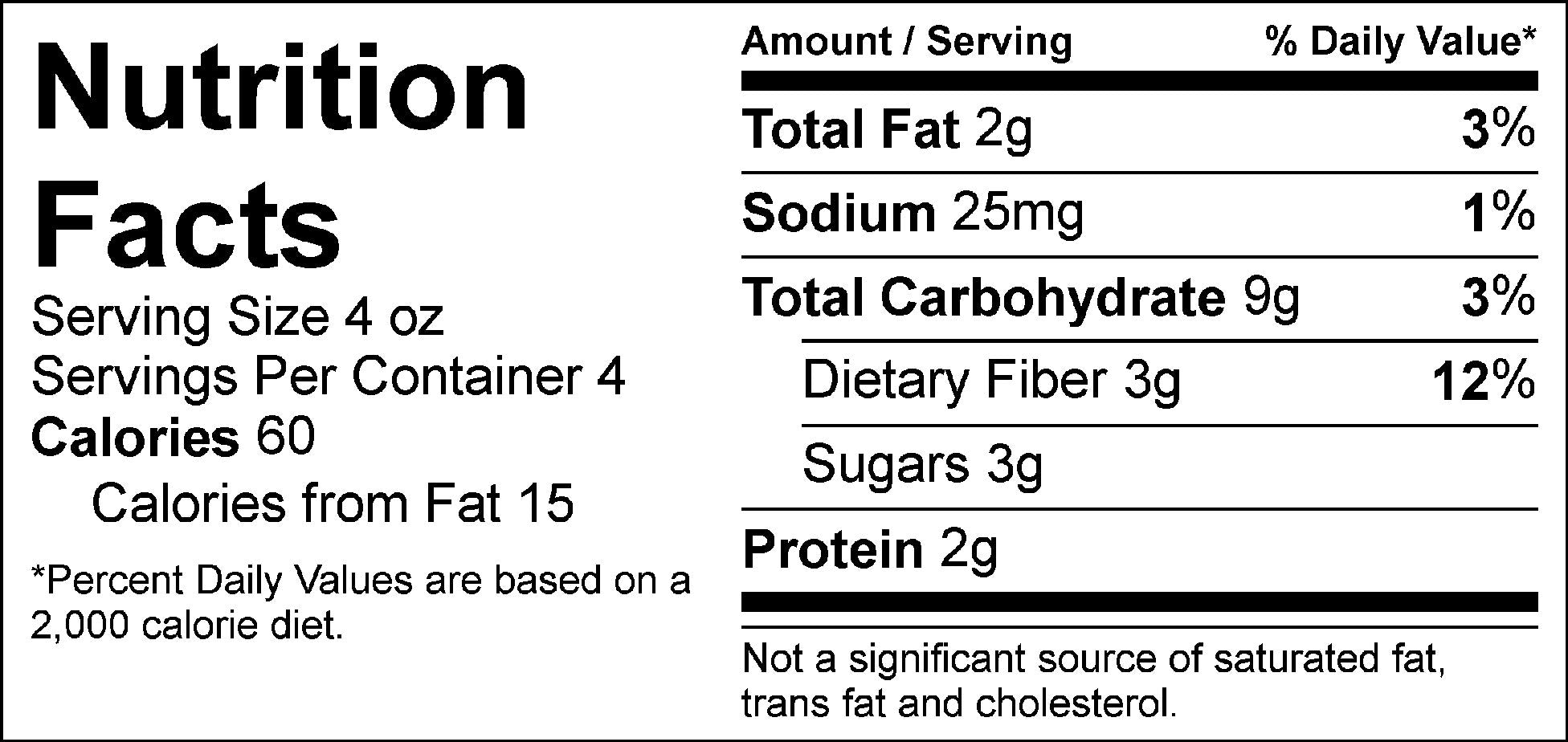 bulk veggies sauteed medley nutrition facts