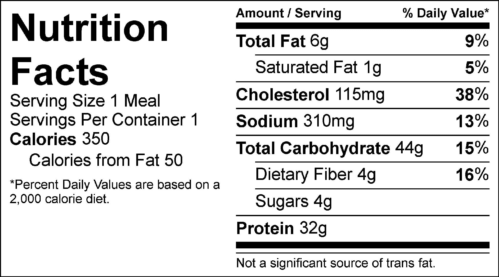 jambalaya nutrition facts