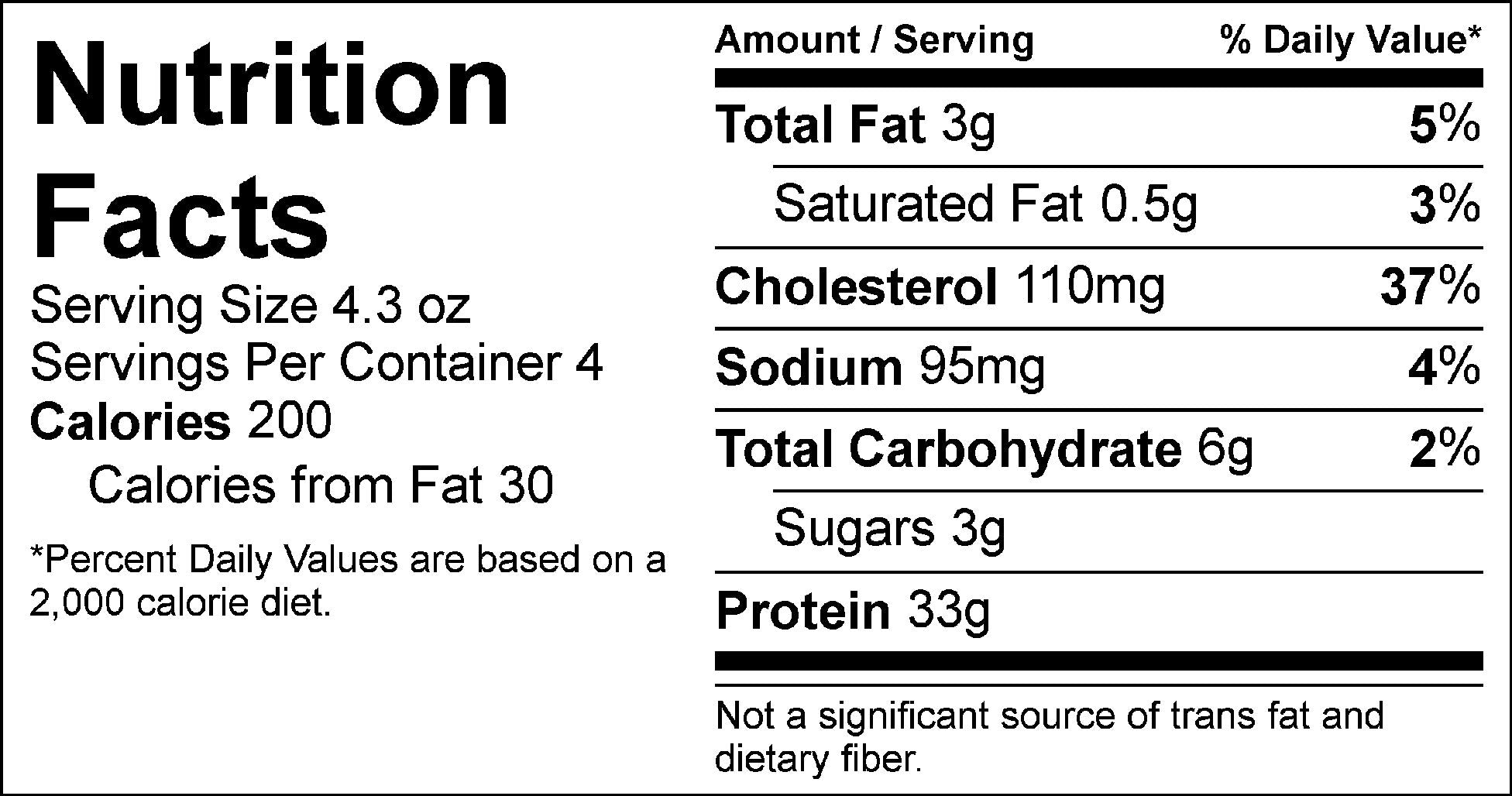 pure protein balsamic chicken nutrition facts