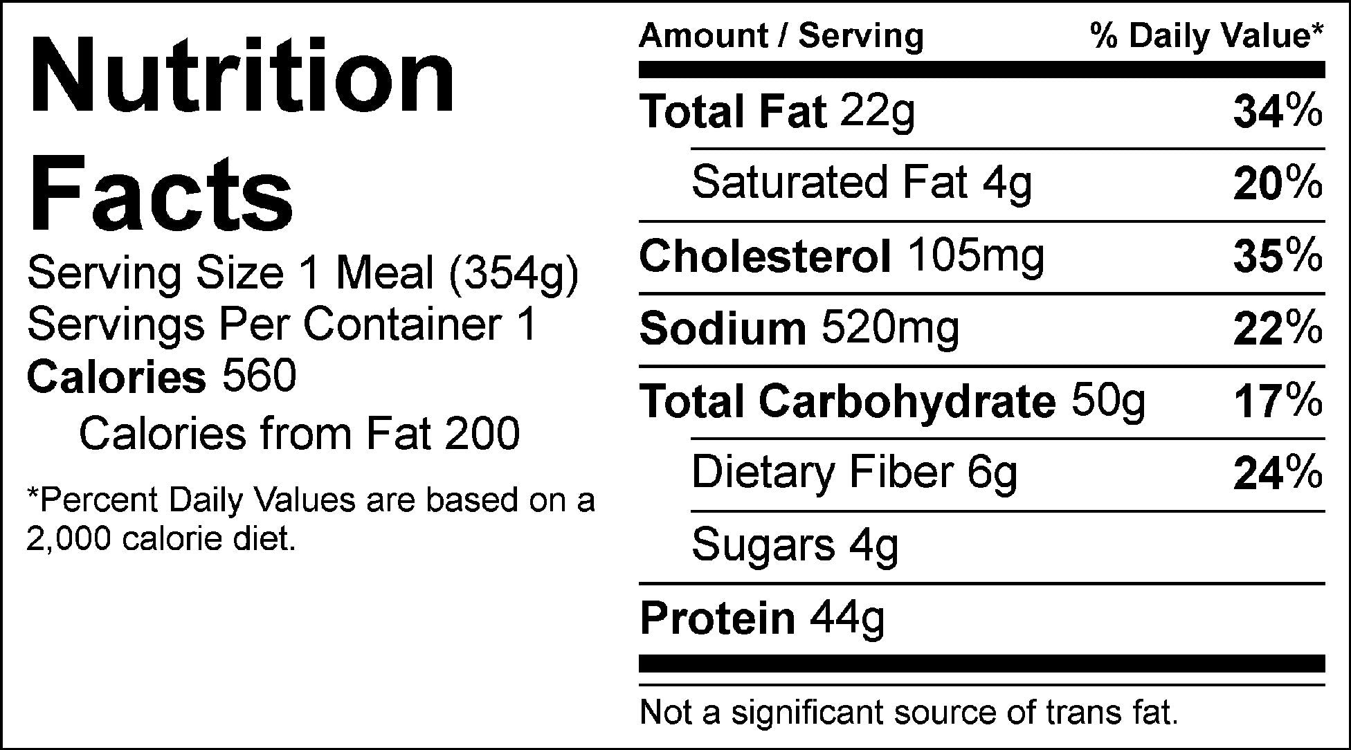 steak tips and yellow rice nutrition facts