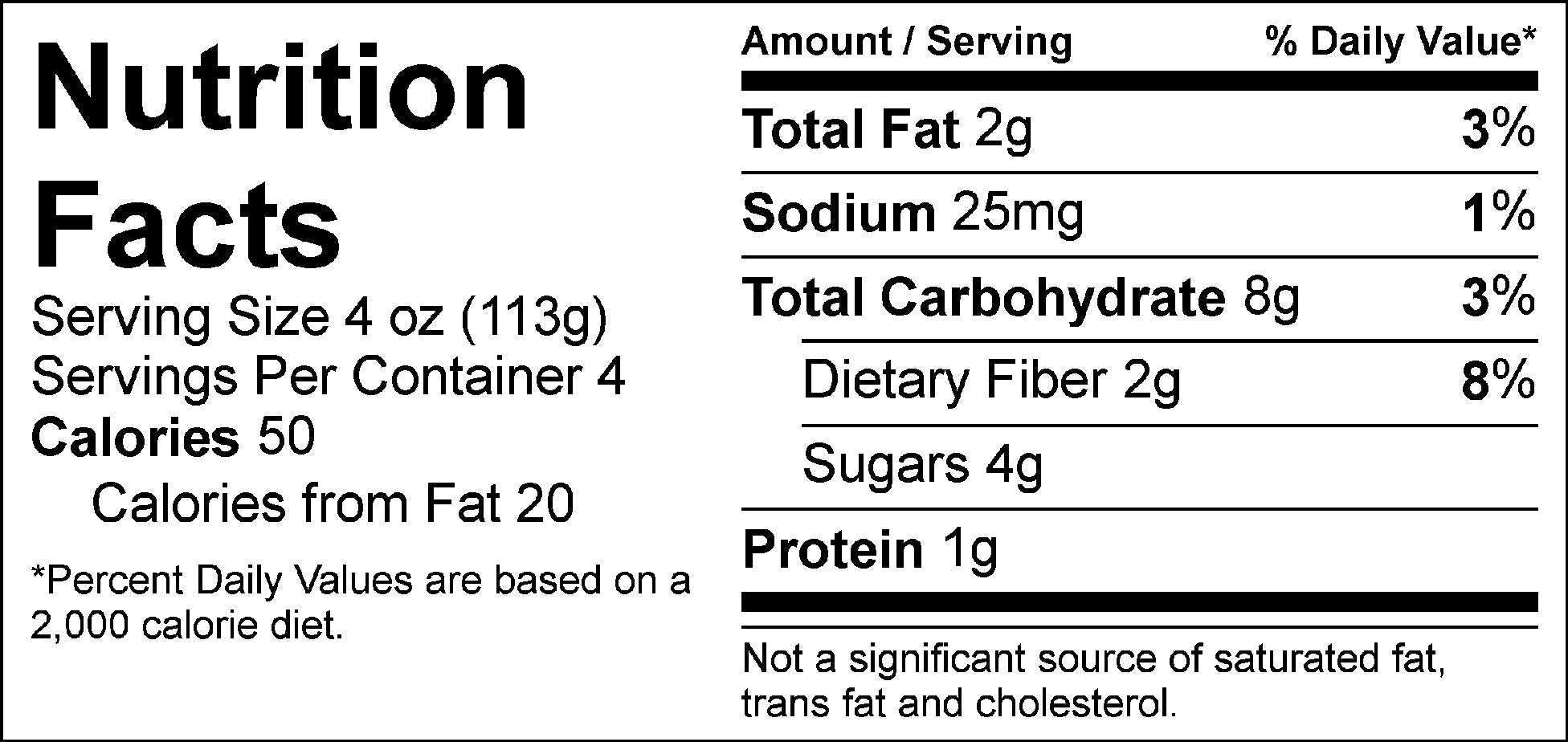 bulk veggies fajita veggies nutrition facts