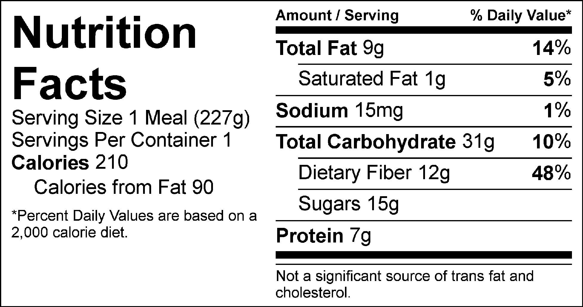 mixed berry chia pudding nutrition facts