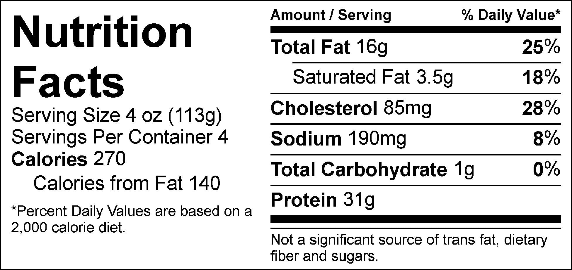 pure protein walnut pesto steak tips nutrition facts