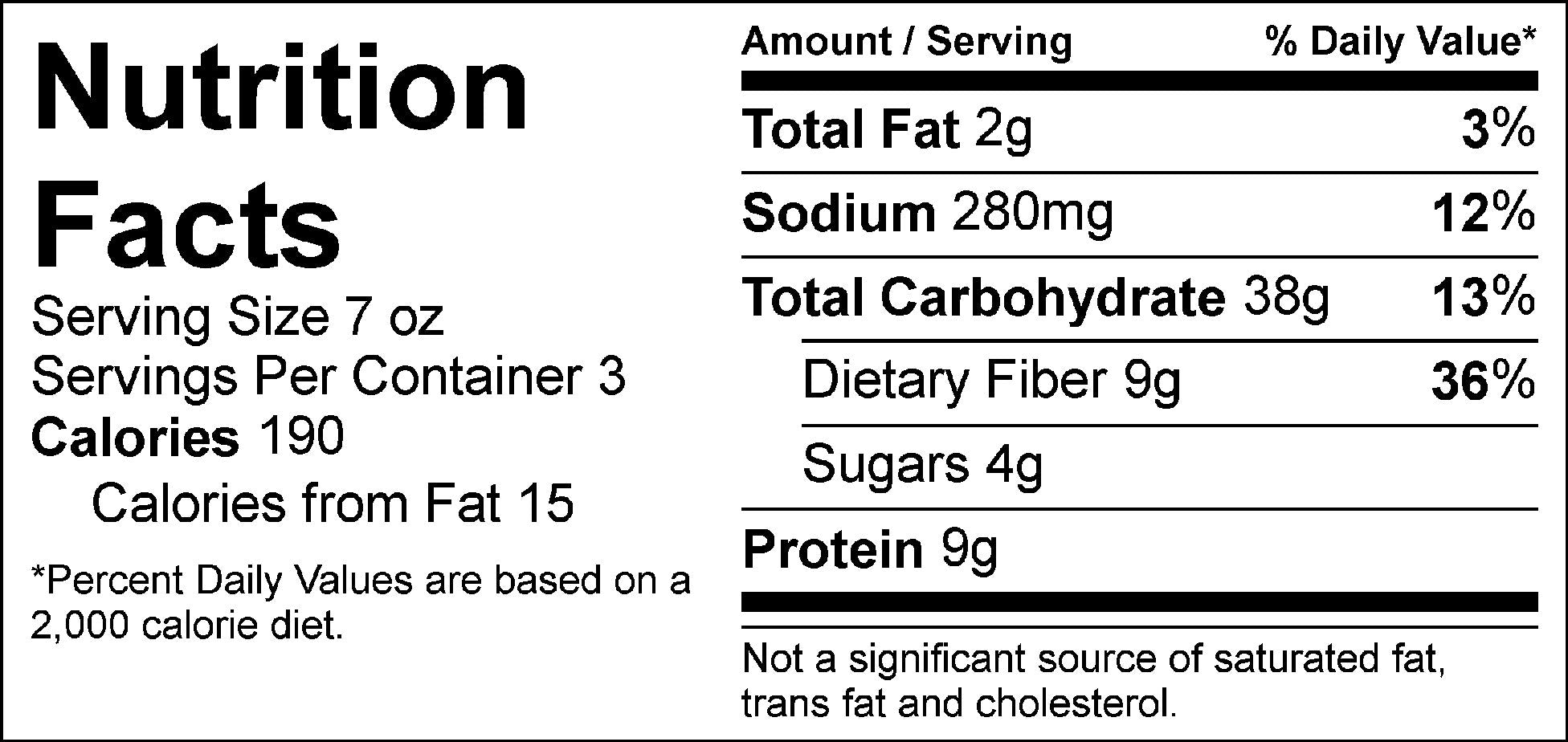 bulk dirty rice nutrition facts