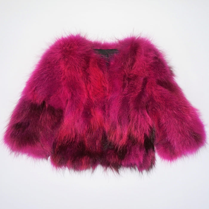 Women's Scarlett Fur Coat in Pink Saphire