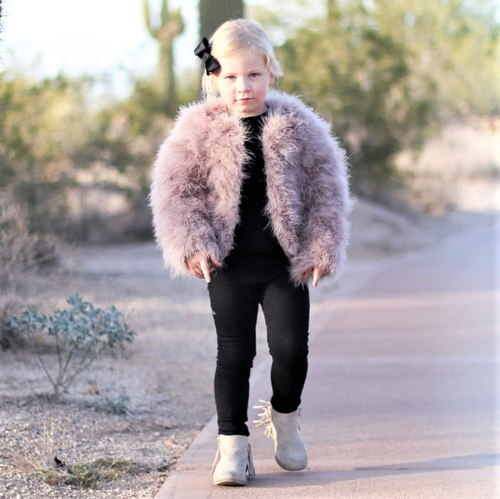 Children's 1-6 Georgia Feather Coat  - 12 colours