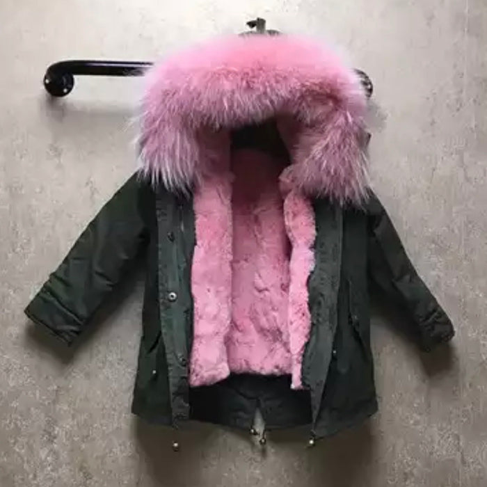 Children's Stella Fur Parka - 4 colours