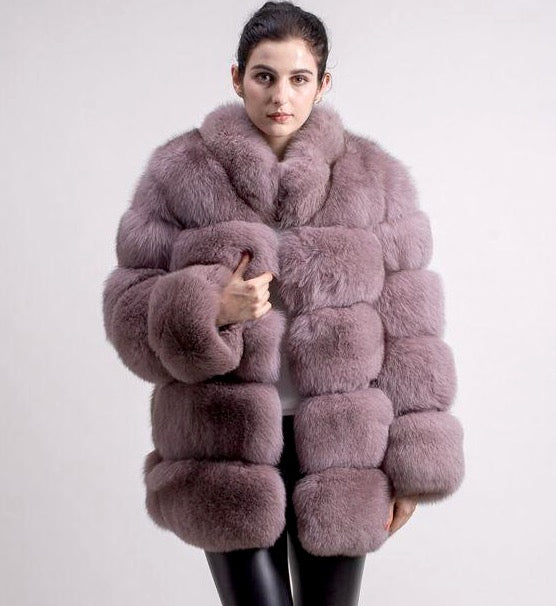 Women's Penelope 5 Strip 70cm Fur Coat - 7 colours