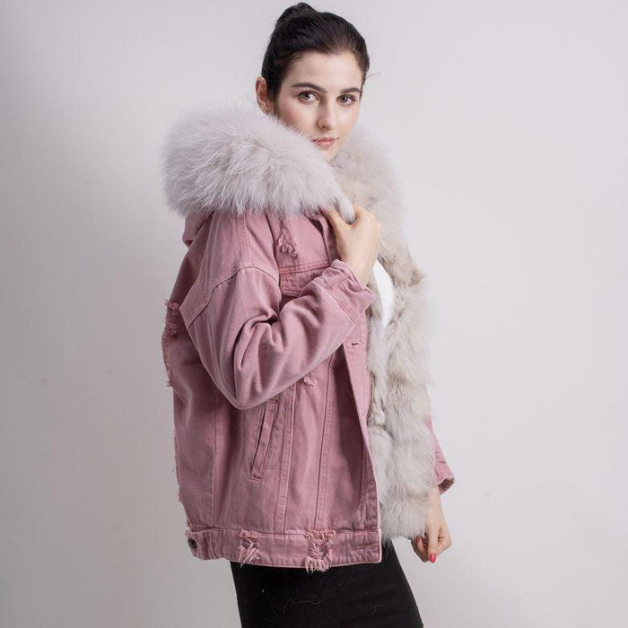 Iva Denim Jacket in Pink - 2 colours