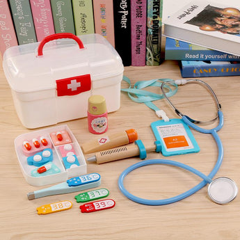 Wooden Doctor and Nurse Kit