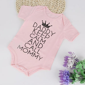 Daddy Keep Calm And Call Mommy | Bodysuit