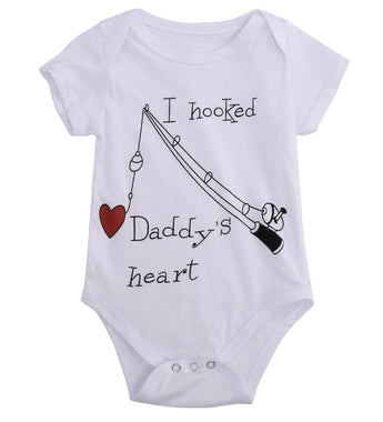 I Hooked Daddy's Heart | Bodysuit