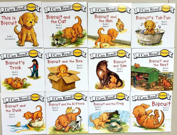 Biscuit Series Phonics English Picture Books (Set of 24 Books)