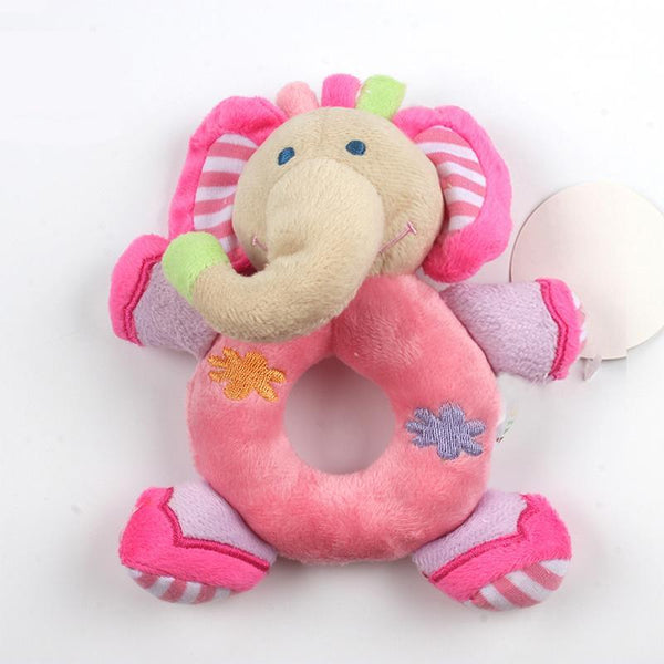 Plush Animal Ring Rattle