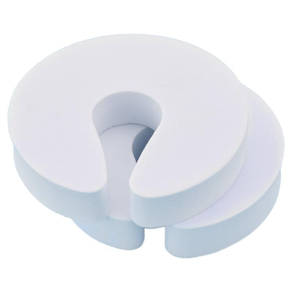Finger-Pinch Guard Door Stopper - Elegant White (4 Pack)