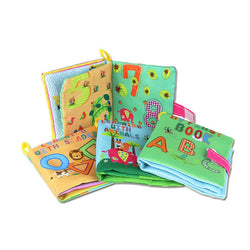 Early Learning Cloth Baby Books (Animals, Shapes, Numbers, ABC)