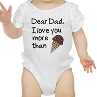 Dear Dad Icecream White | Bodysuit