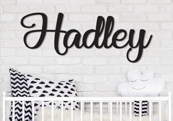 "Wooden Name Sign | Hadley Font | 12"" to 55"""