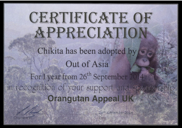 Certificate of Adoption | Out of Asia