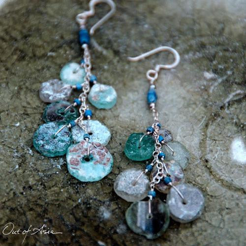 Ancient Roman Glass Earrings - OutOfAsia