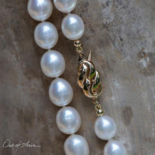 BIG, LONG and Very Beautiful Jumbo White Freshwater Pearls - OutOfAsia