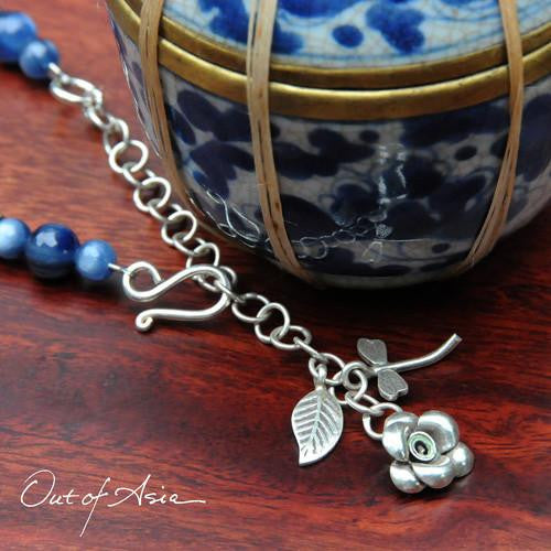 Blue Kyanite and Sterling Silver Out of Asia Original - OutOfAsia