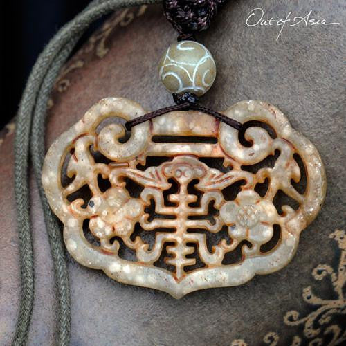 Carved Jade Pendant - OutOfAsia