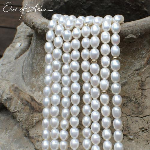 Embellished Cascade of Freshwater Pearls - OutOfAsia