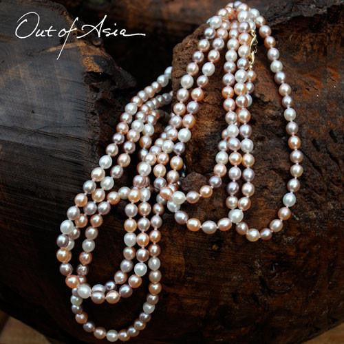 Freshwater Pearl 88-inch (!!!) Hand Knotted Necklace - OutOfAsia