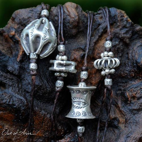 Hand Wrought Silver NecklaceThailand Hill Tribe Silver - OutOfAsia