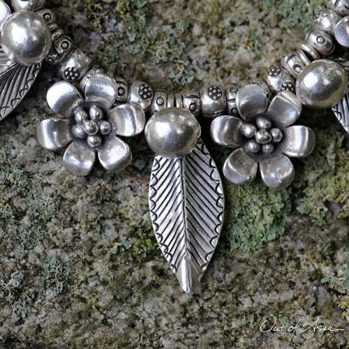 Hand Wrought Thai Hilltribe Silver Necklace - OutOfAsia