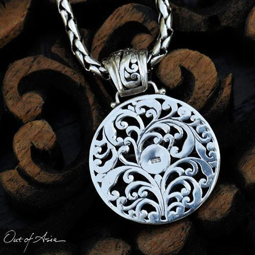 Handcrafted Bali Sterling Silver Cut-out Pendant - OutOfAsia