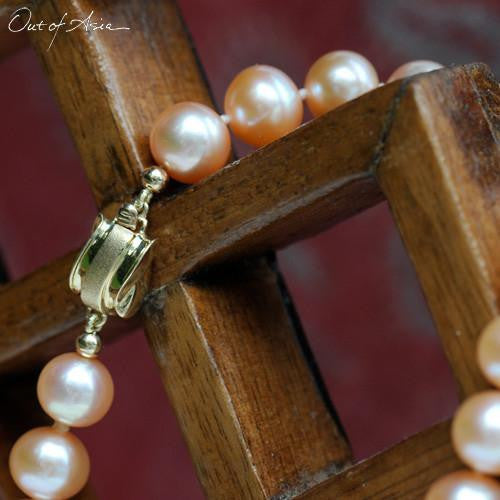 Jumbo Freshwater Pearl Necklace with 14K Gold Clasp - OutOfAsia