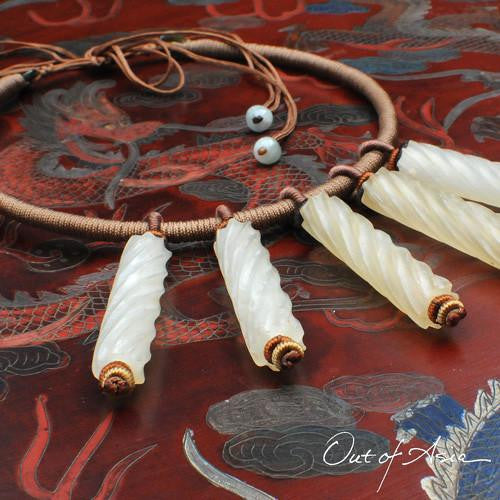 One-of-a-Kind White Jade Necklace - OutOfAsia