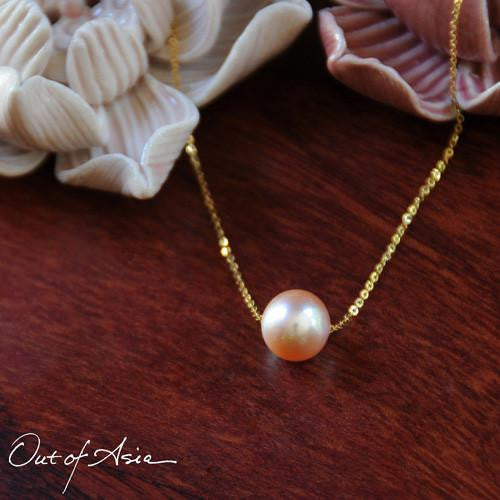 Pearl on a Chain Freshwater and 18K Gold - OutOfAsia